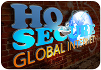HQ Secure Global Internet Logo