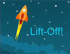 Website Launch Lift Off Rocket Ship